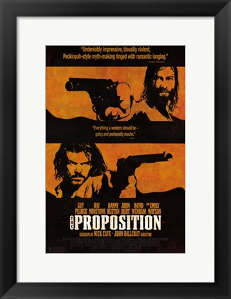 Framed Proposition - Two men with guns Print