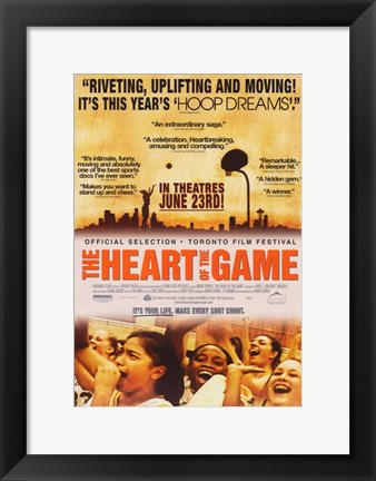 Framed Heart of the Game Print