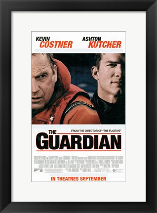 Framed Guardian Costner And Kutcher Print