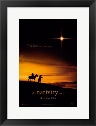 Framed Nativity Story Print