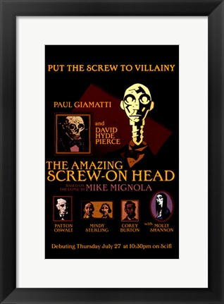 Framed Amazing Screw-On Head Print