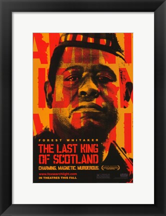 Framed Last King of Scotland Print