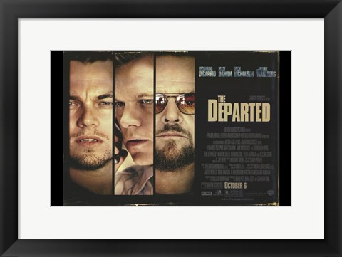 Framed Departed Horizontal Print