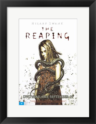 Framed Reaping Hillary Swank Print