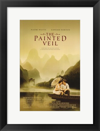 Framed Painted Veil Movie Print