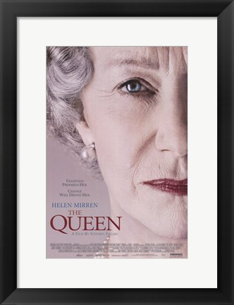 Framed Queen Helen Mirren Print