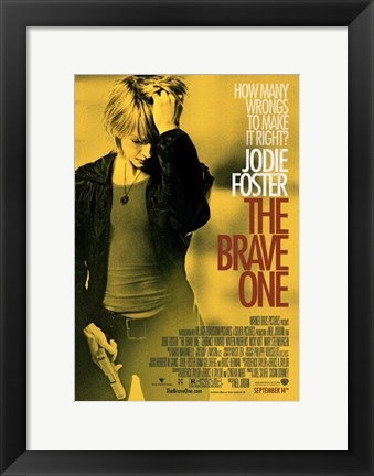 Framed Brave One Jodie Foster Print