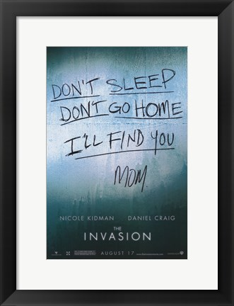 Framed Invasion Print