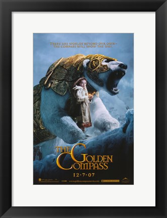 Framed Golden Compass Print