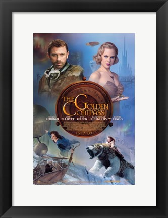 Framed Golden Compass - characters Print