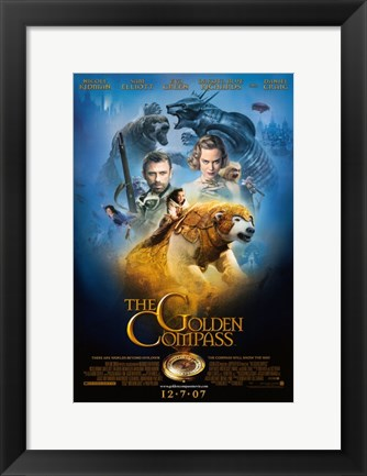 Framed Golden Compass - characters posed Print