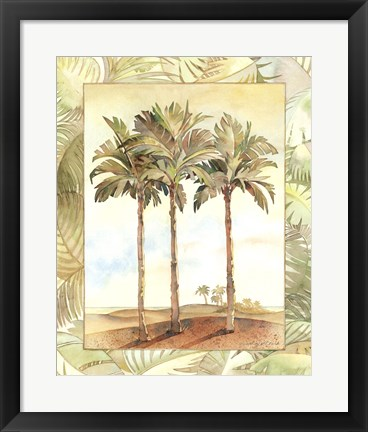 Framed Palm Tree IV Print