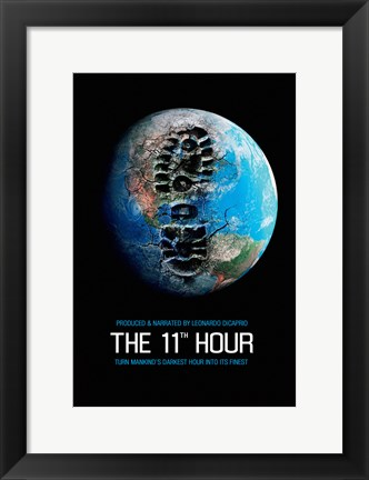 Framed 11th Hour Footprint on the Earth Print