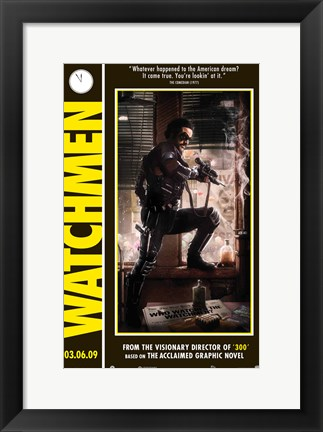 Framed Watchmen - style  A Print