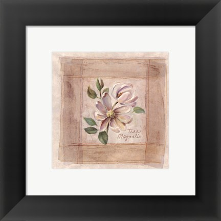 Framed Tree Magnolia Print