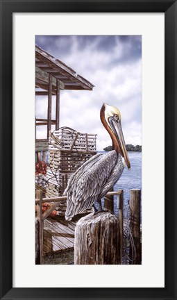 Framed Pelican Key Print