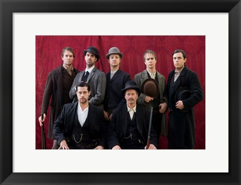 Framed Assassination of Jesse James by the Coward Robert Ford - group of men Print