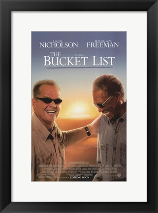 Framed Bucket List Print