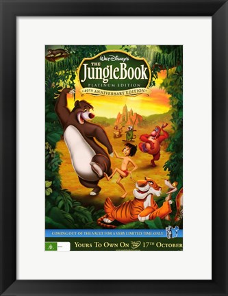 Framed Jungle Book DVD Cover Print