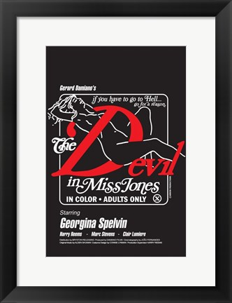 Framed Devil in Miss Jones - nude woman Print