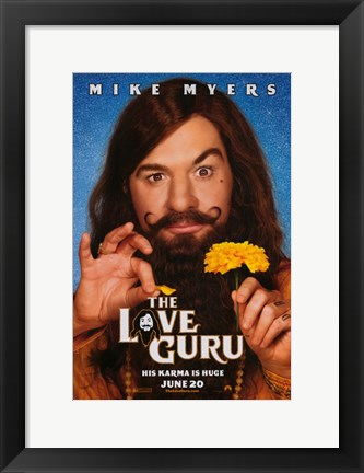 Framed Love Guru Print