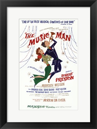 Framed (Broadway) Music Man Print