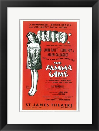 Framed (Broadway) Pajama Game Print