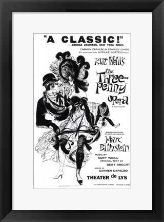 Framed (Broadway) Three Penny Opera Print