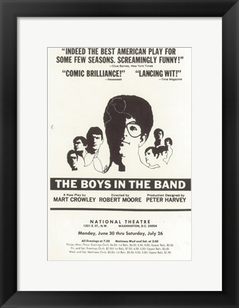 Framed (Broadway) Boys In The Band Print