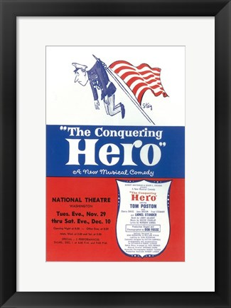 Framed (Broadway) Conquering Hero Print
