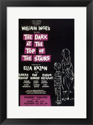 Framed (Broadway) Dark At The Top Of The Stairs Print
