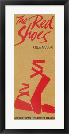 Framed (Broadway) Red Shoes Print