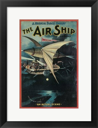 Framed (Broadway) Air Ship Print