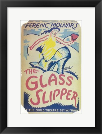 Framed (Broadway) Glass Slipper Print