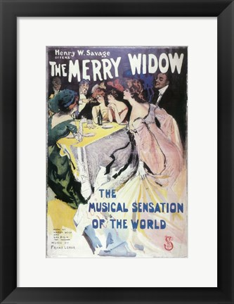 Framed (Broadway) Merry Widow Print