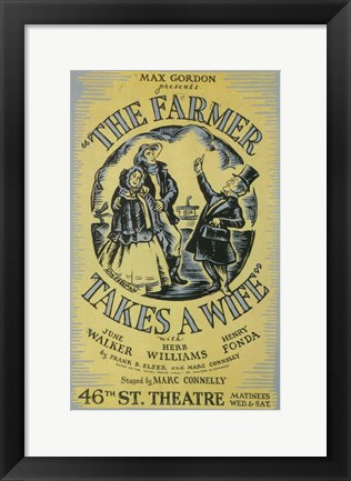 Framed (Broadway) Farmer Takes A Wife Print