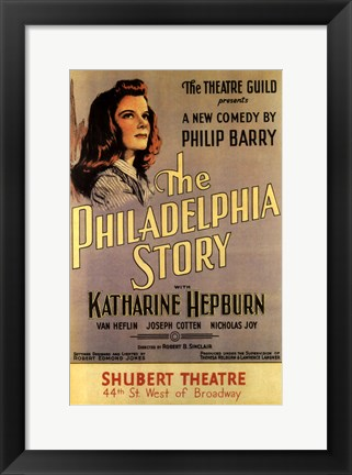 Framed (Broadway) Philadelphia Story Print
