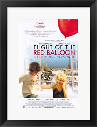 Framed Flight of the Red Balloon Print