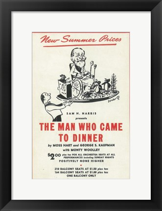 Framed (Broadway) Man Who Came to Dinner Print