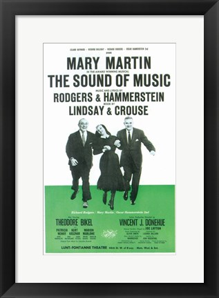 Framed (Broadway) Sound Of Music Print