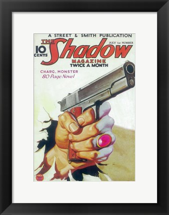 Framed (Pulp) Shadow Magazine Print