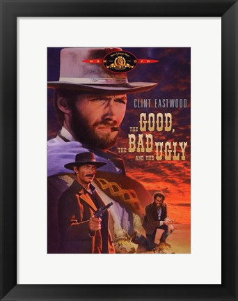 Framed he Good, The Bad, and the Ugly Cartoon Print