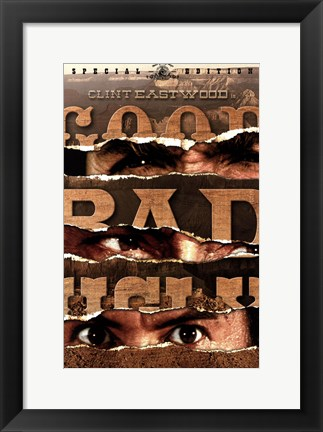 Framed he Good, The Bad, and the Ugly Ripped Paper Print