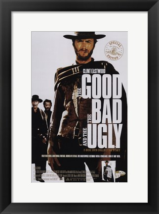 Framed Good, The Bad, and the Ugly Clint Eastwood Print