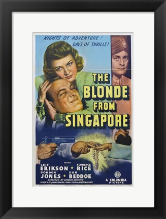 Framed Blonde from Singapore Print