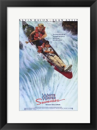 Framed White Water Summer Print
