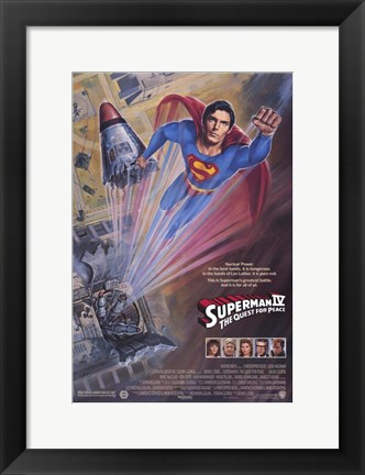 Framed Superman 4: The Quest for Peace Film Print