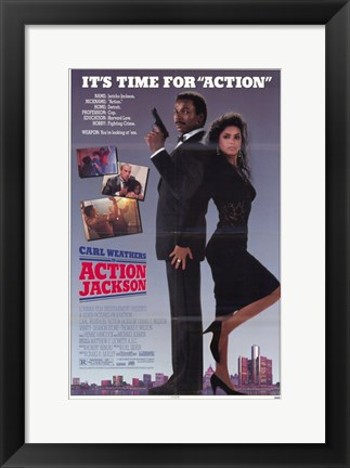 Framed Action Jackson - back to back Print