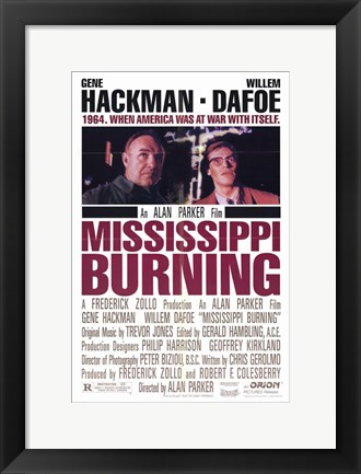 Framed Mississippi Burning By Alan Parker Print
