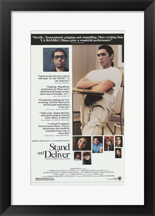 Framed Stand and Deliver Movie Print